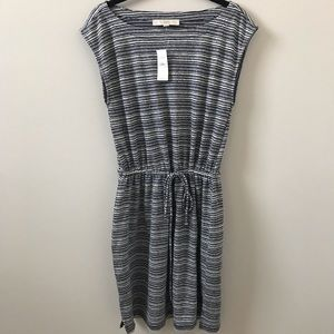 Loft Navy Striped Dress, Size S